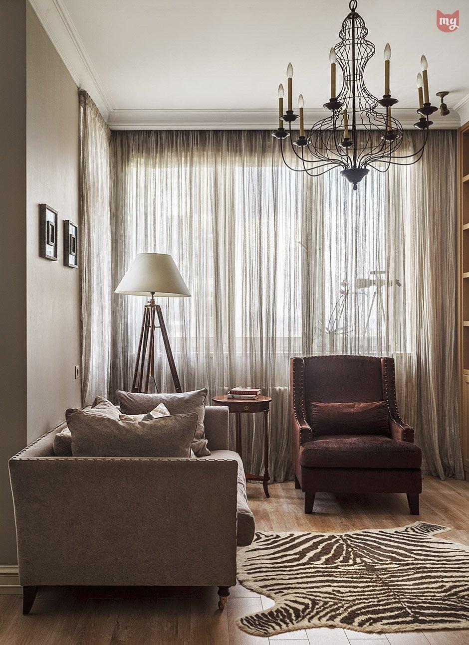 Фотография: Гостиная в стиле Прованс и Кантри, Квартира, Проект недели, Наталья Сорокина – фото на INMYROOM