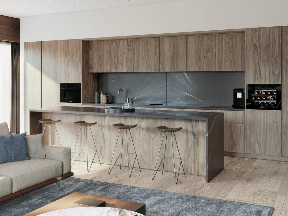 Фотография: Кухня и столовая в стиле Минимализм, Квартира, Проект недели, 4 и больше, Более 90 метров, Ab-architects, Level Barvikha – фото на INMYROOM