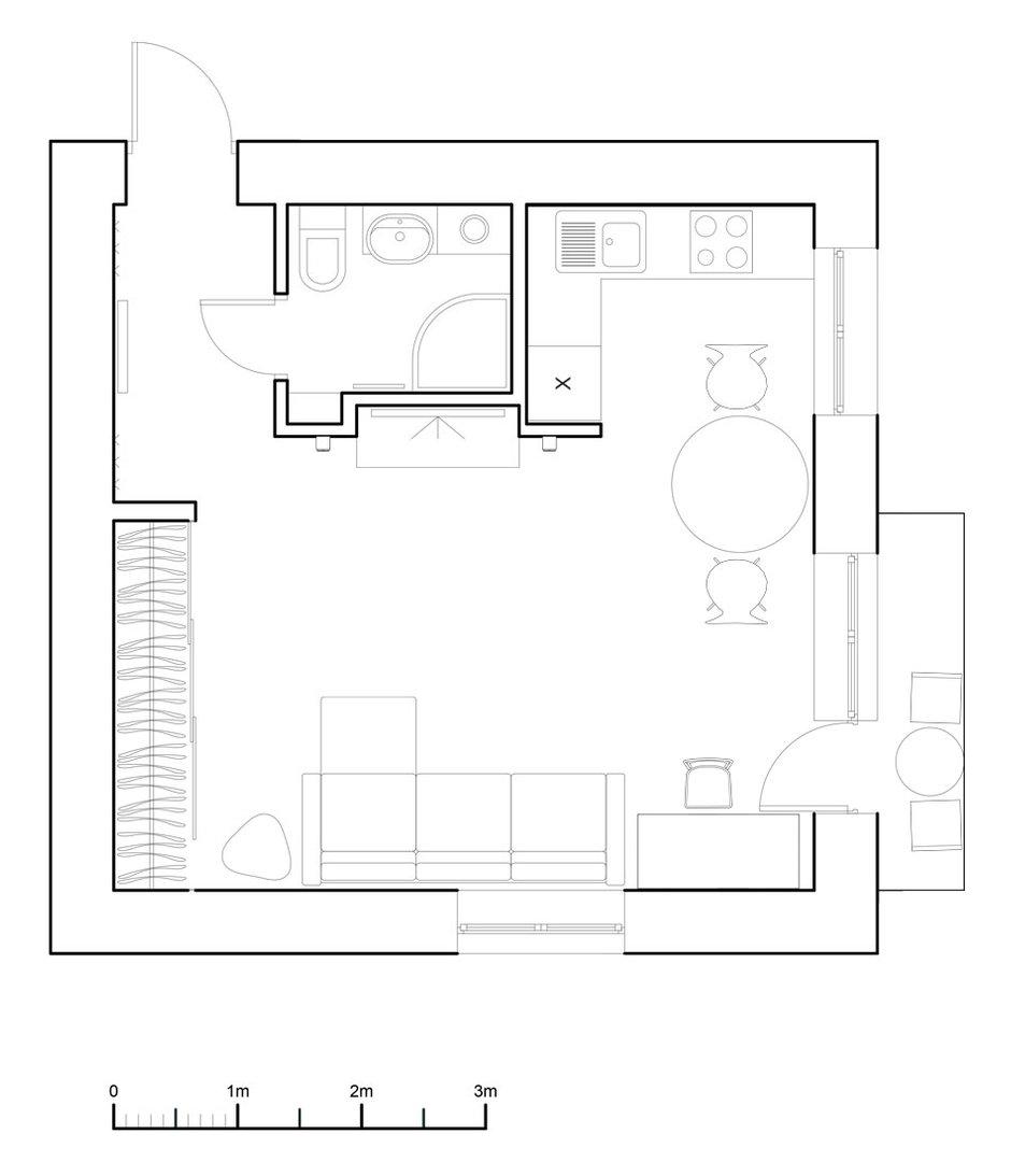 Фотография: Планировки в стиле , Малогабаритная квартира, Квартира, Дома и квартиры, IKEA, Проект недели, Хрущевка – фото на INMYROOM