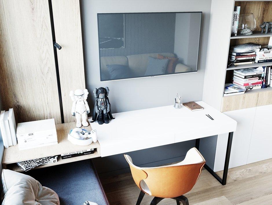 Фотография: Кабинет в стиле Современный, Квартира, Проект недели, Москва, 4 и больше, Более 90 метров, Студия 20:18 – фото на INMYROOM