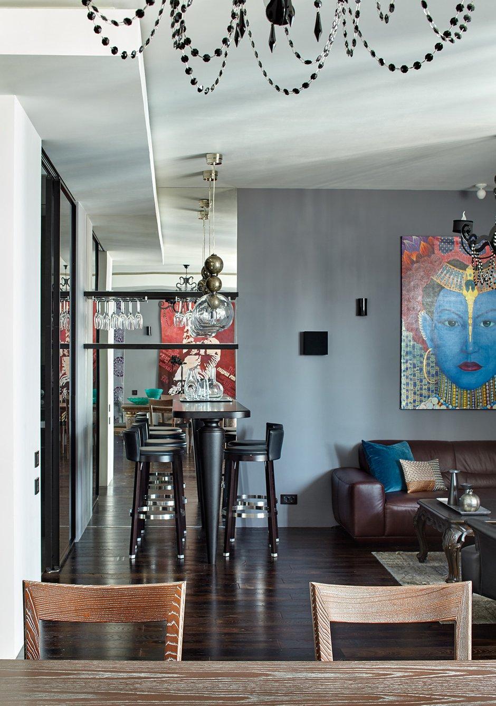 Фотография: Гостиная в стиле Эклектика, Квартира, Проект недели, Москва, Елена Семенова – фото на INMYROOM