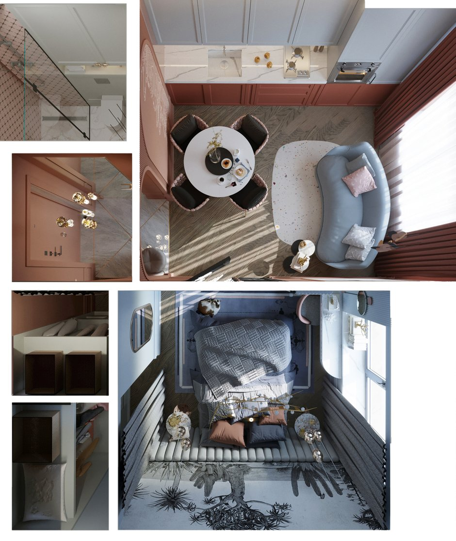 Фотография:  в стиле , Малогабаритная квартира, Квартира, Проект недели, Санкт-Петербург, Сталинка, 1 комната, до 40 метров, АРИНА ТРОИЛОВА – фото на INMYROOM