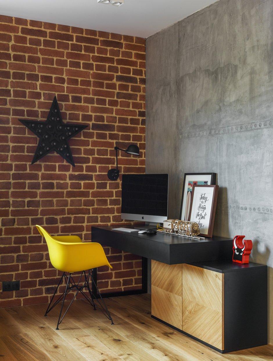 Фотография: Кабинет в стиле Лофт, Современный, Квартира, Проект недели, Geometrium, Монолитный дом, 2 комнаты, 60-90 метров, ЖК «Сколковский» – фото на INMYROOM