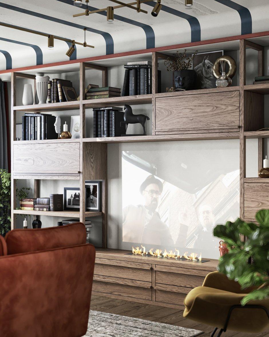 Фотография: Гостиная в стиле Современный, Эклектика, Квартира, Проект недели, Санкт-Петербург, ToTaste Studio, 3 комнаты, 60-90 метров, Более 90 метров – фото на INMYROOM