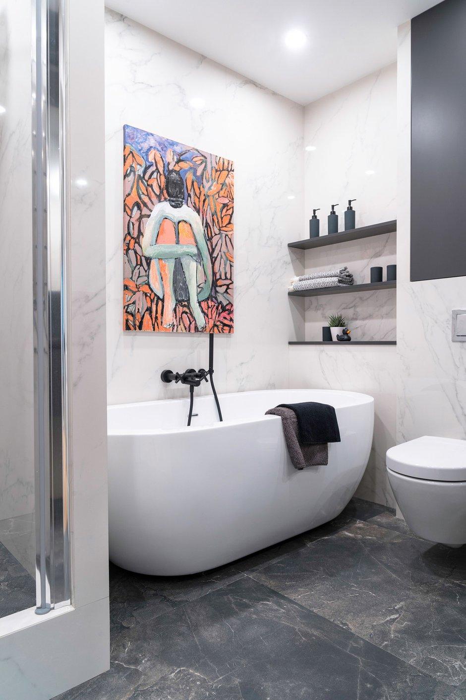 Фотография: Ванная в стиле Современный, Эклектика, Квартира, Проект недели, Москва, Светлана Гаврилова, Монолитный дом, 3 комнаты, 60-90 метров – фото на INMYROOM