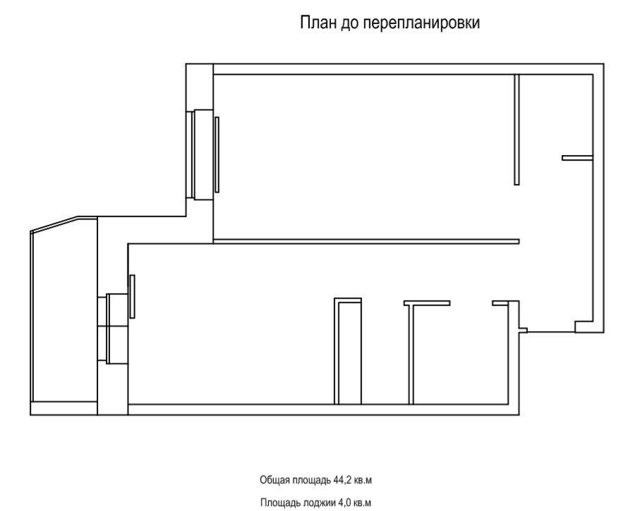Фотография:  в стиле , Современный, Квартира, Перепланировка, 1 комната, 40-60 метров, Алла Кущева – фото на INMYROOM