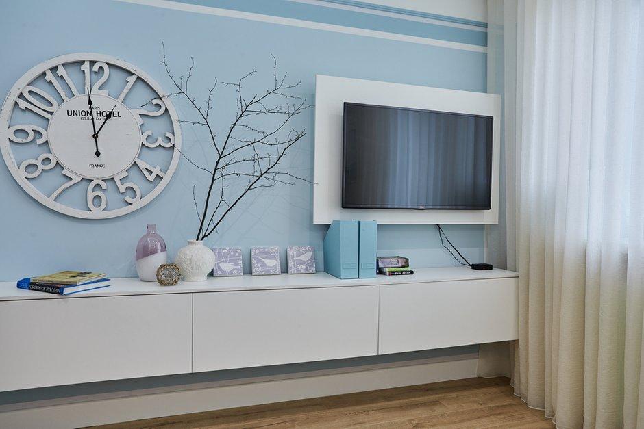 Фотография: Гостиная в стиле Современный, Квартира, Проект недели, Москва, Монолитный дом, 1 комната, 40-60 метров, Алла Апалкова – фото на INMYROOM
