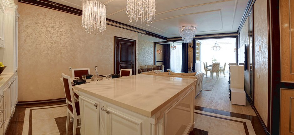 Фотография: Кухня и столовая в стиле Классический, Квартира, Дома и квартиры, Ар-деко, Неоклассика – фото на INMYROOM
