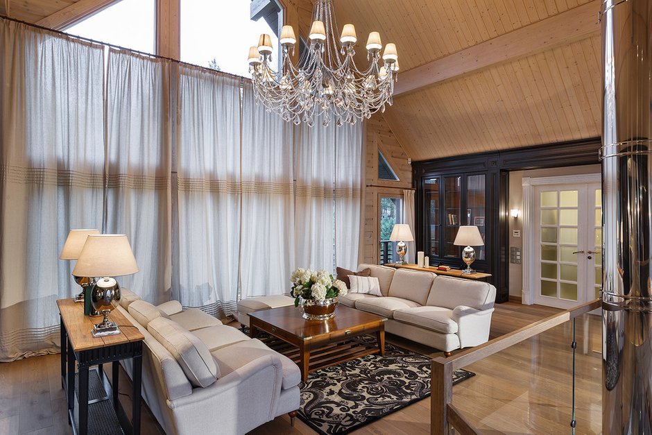 Фотография: Гостиная в стиле , Классический, Дом, Дома и квартиры, Проект недели, Дача – фото на INMYROOM