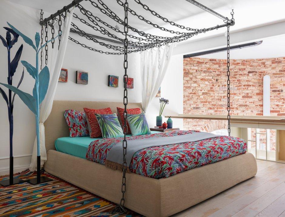 Фотография: Спальня в стиле Эклектика, Квартира, Проект недели, Москва, Дарья Василькова, 2 комнаты, 60-90 метров, ЖК «Гринфилд» – фото на INMYROOM