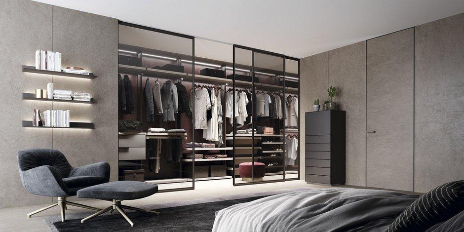 Фотография: Спальня в стиле Минимализм, Гардеробная, гардеробная в спальне, UNION, Спецпроект – фото на INMYROOM
