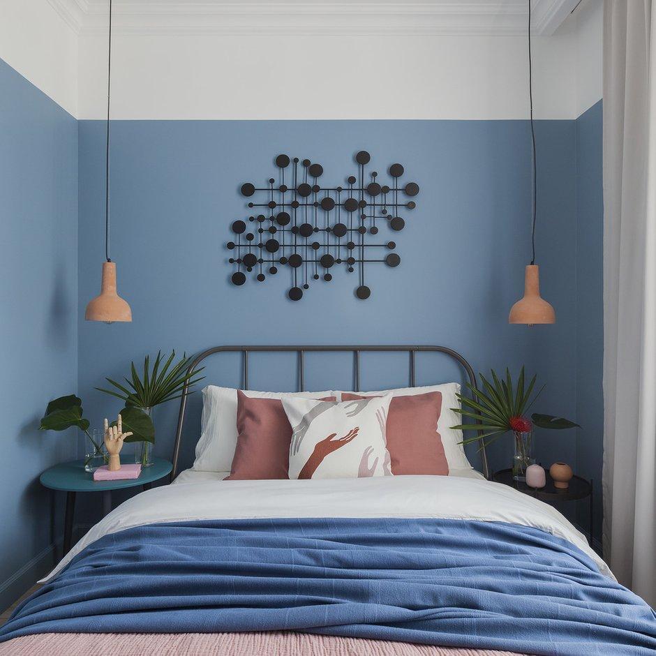 Фотография: Спальня в стиле Современный, Квартира, Проект недели, Сталинка, 3 комнаты, 40-60 метров, Москав, Светлана Хабеева – фото на INMYROOM
