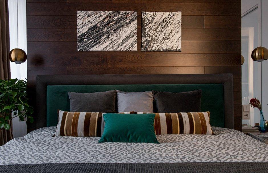 Фотография: Спальня в стиле Современный, Квартира, Проект недели, «Уютная квартира», Наталья Преображенская, Монолитный дом, 2 комнаты, 40-60 метров – фото на INMYROOM