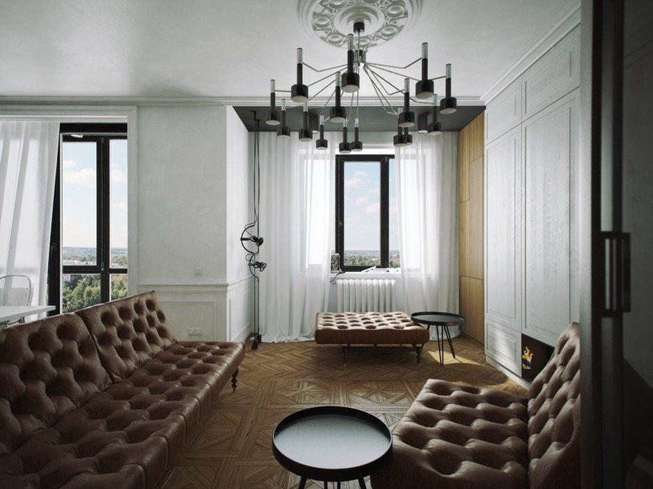Фотография: Гостиная в стиле Современный, Эклектика,  – фото на InMyRoom.ru