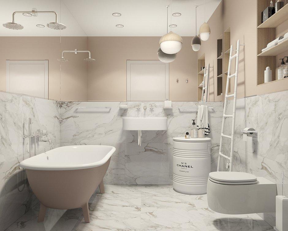 Фотография: Ванная в стиле Современный, Квартира, Студия, Проект недели, Новая Москва, Монолитный дом, 40-60 метров, Лена Логинова – фото на INMYROOM
