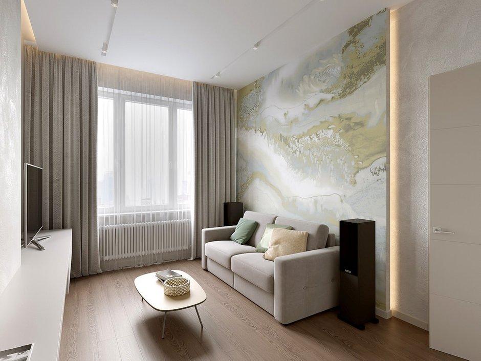 Фотография: Гостиная в стиле Современный, Miele, Проект недели, 2 комнаты – фото на INMYROOM