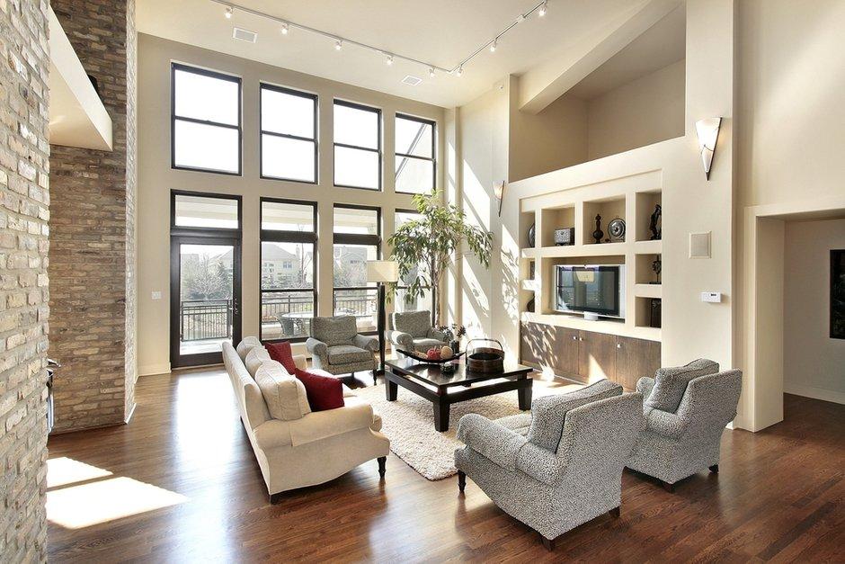 Фотография: Гостиная в стиле Современный, Декор интерьера, Декор дома, Советы, Большие окна, Панорамные окна – фото на INMYROOM