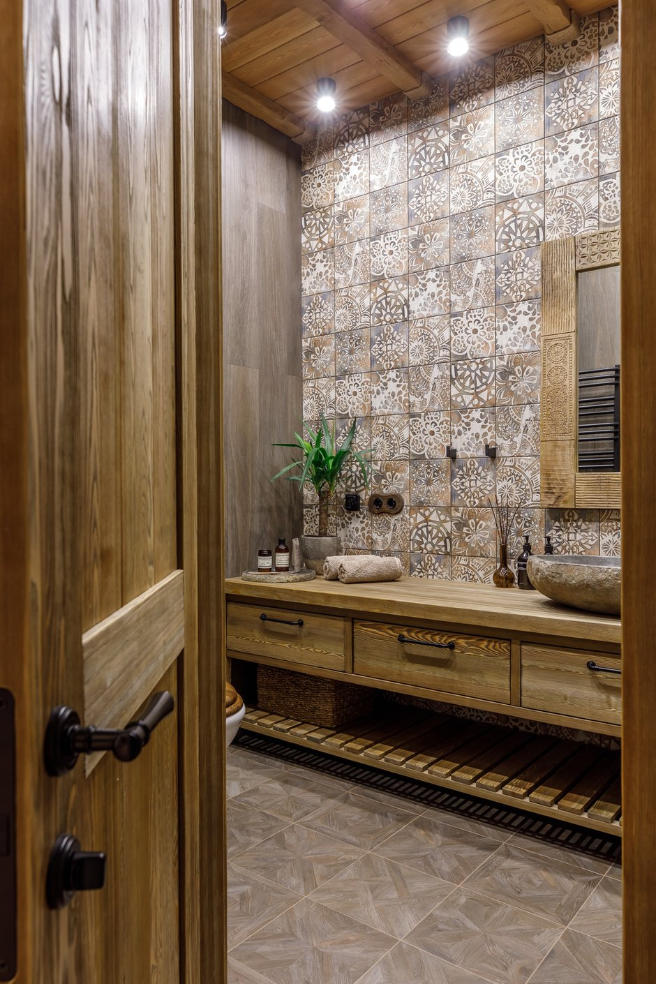 Фотография: Ванная в стиле Эко, Восточный, Квартира, Проект недели, Москва, 3 комнаты, 60-90 метров, AD-Home – фото на INMYROOM