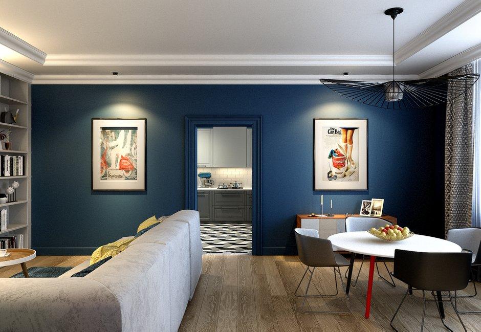 Фотография: Гостиная в стиле Скандинавский, Квартира, Проект недели, Анастасия Туганова – фото на INMYROOM