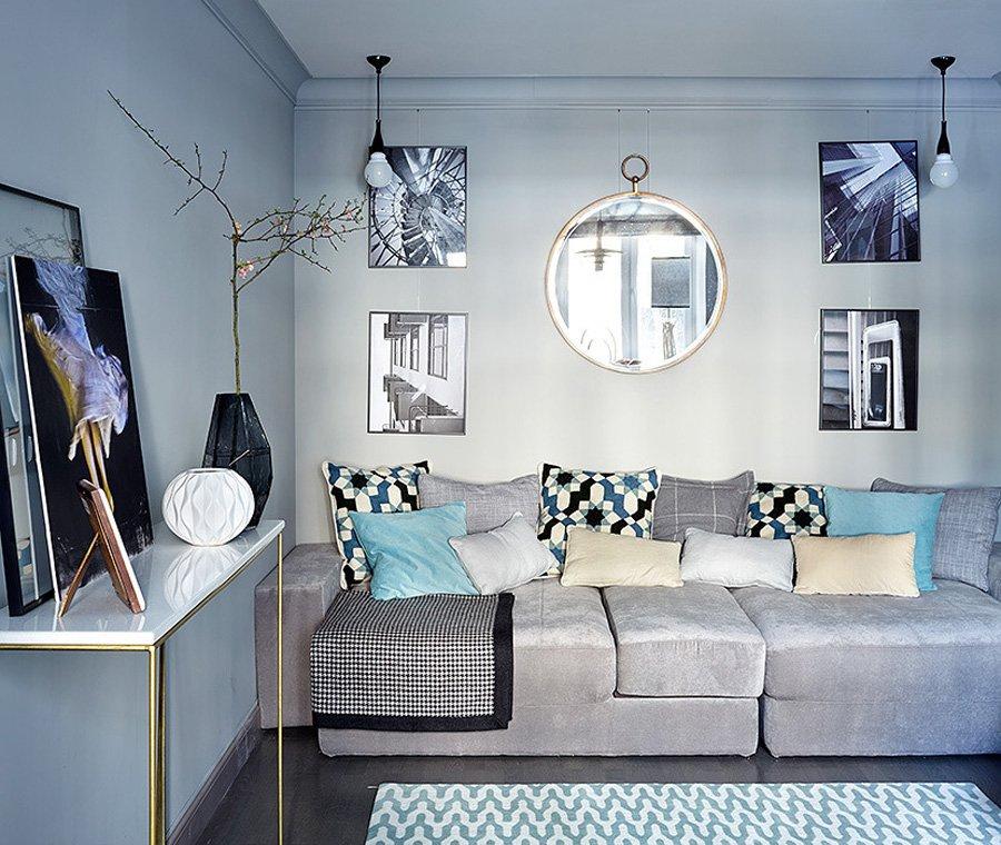 Фотография: Гостиная в стиле Скандинавский, Квартира, Проект недели, 2 комнаты, до 40 метров – фото на INMYROOM