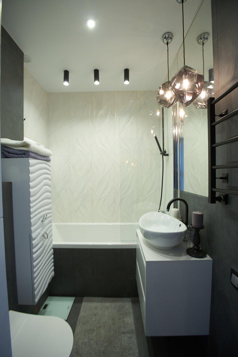 Фотография: Ванная в стиле Современный, Квартира, Проект недели, Москва, 2 комнаты, 40-60 метров, 60-90 метров, Светлана Пырх – фото на INMYROOM