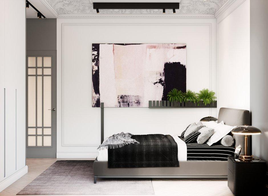 Фотография: Спальня в стиле Современный, Квартира, Проект недели, Москва, Монолитный дом, 3 комнаты, Более 90 метров, Сергей Клочков – фото на INMYROOM
