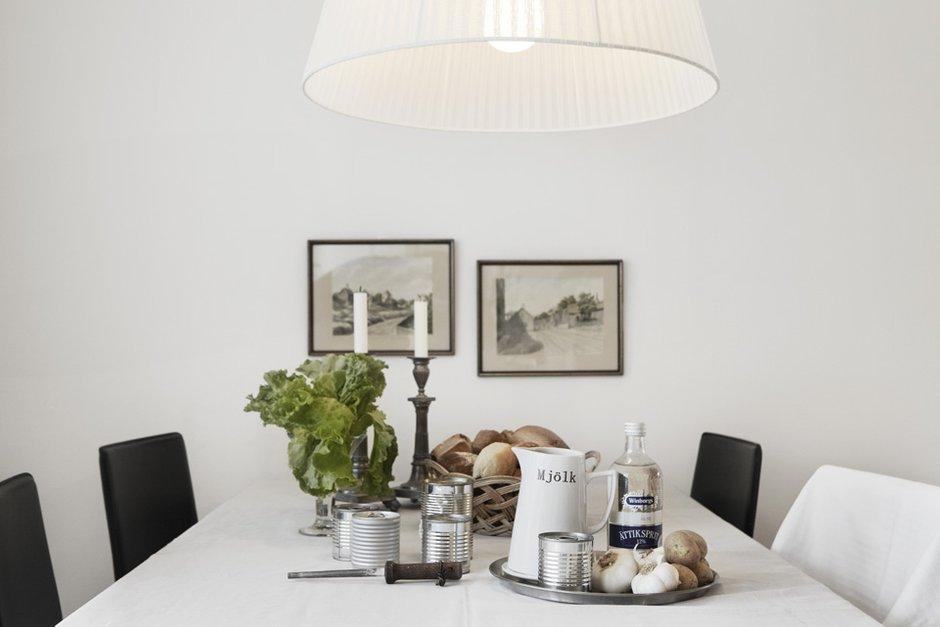 Фотография: Кухня и столовая в стиле Скандинавский, Современный, Детская, Квартира, Швеция, Цвет в интерьере, Дома и квартиры, Белый – фото на INMYROOM