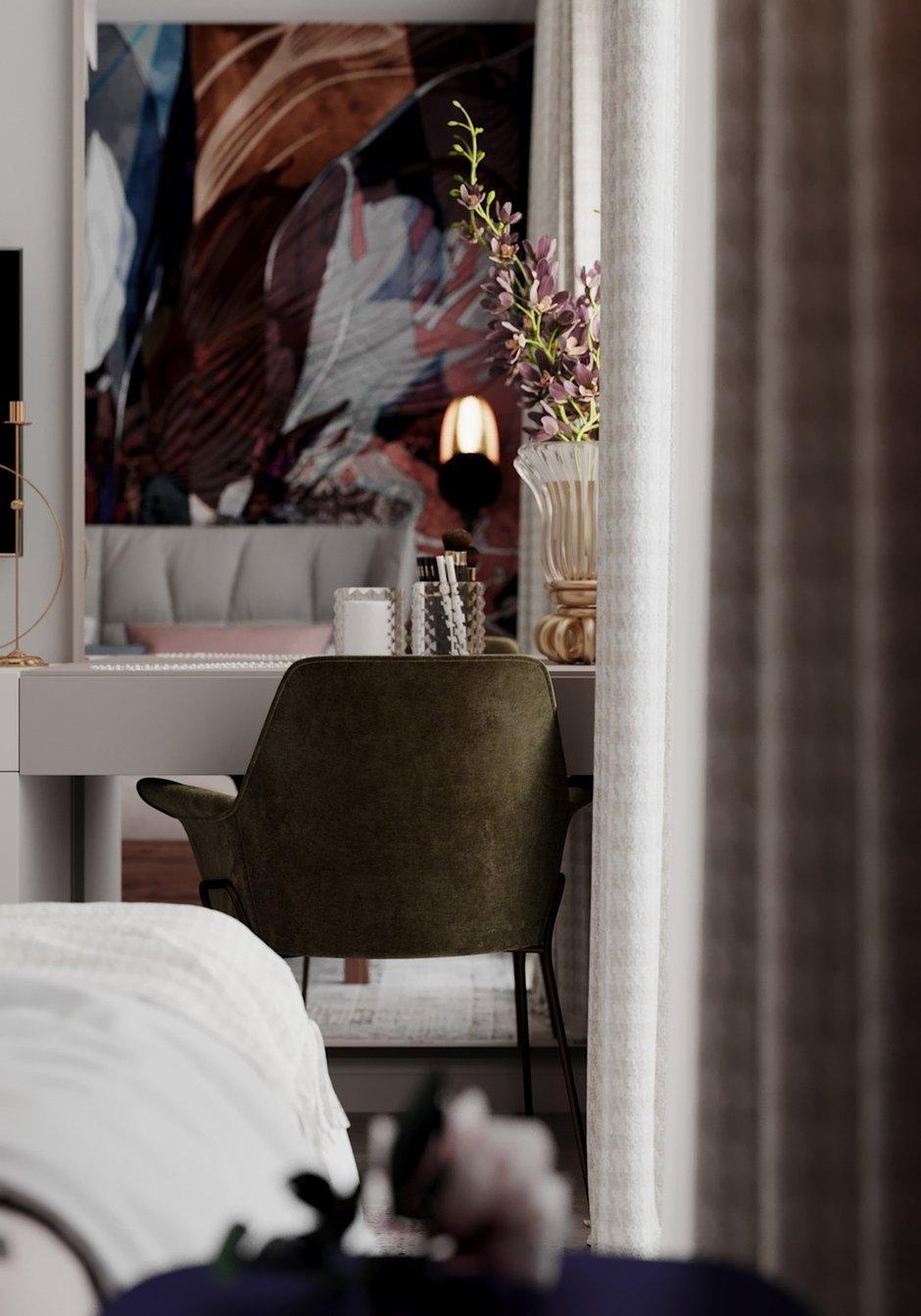 Фотография: Спальня в стиле Современный, Эклектика, Квартира, Проект недели, Монолитный дом, 3 комнаты, 60-90 метров, Светлана Удзилаури, Брянск – фото на INMYROOM