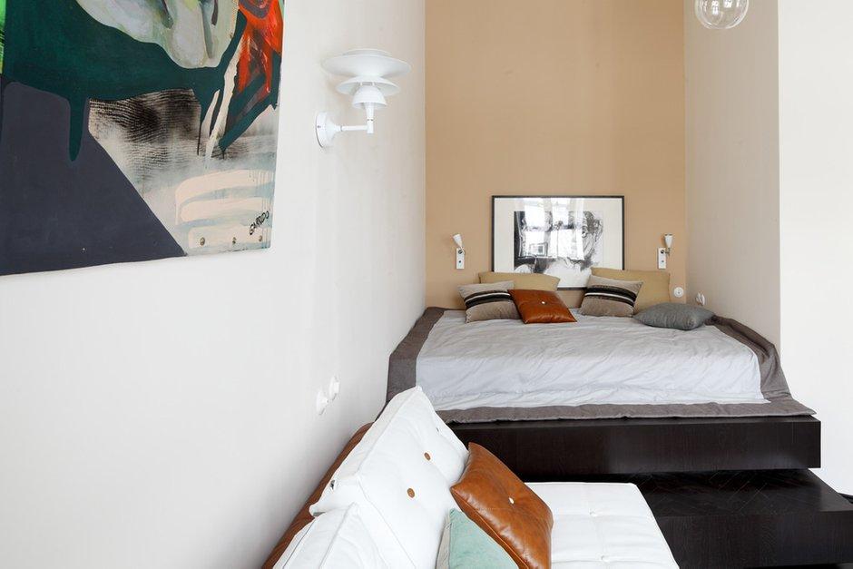 Фотография: Спальня в стиле Хай-тек, Малогабаритная квартира, Квартира, Студия, Дома и квартиры, Проект недели – фото на INMYROOM