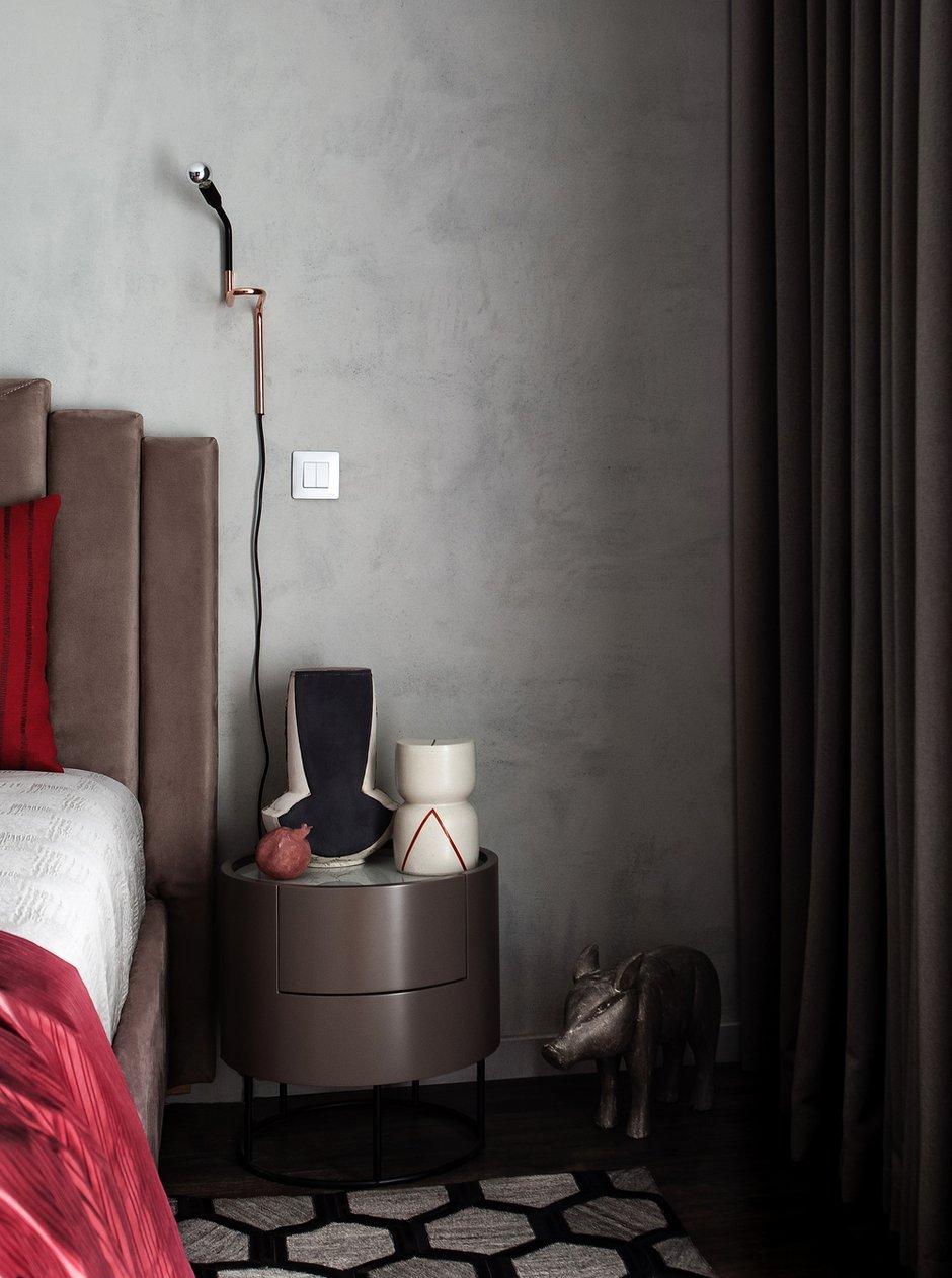 Фотография: Спальня в стиле Современный, Квартира, Проект недели, Санкт-Петербург, 1 комната, 40-60 метров, Екатерина Совастеева – фото на INMYROOM