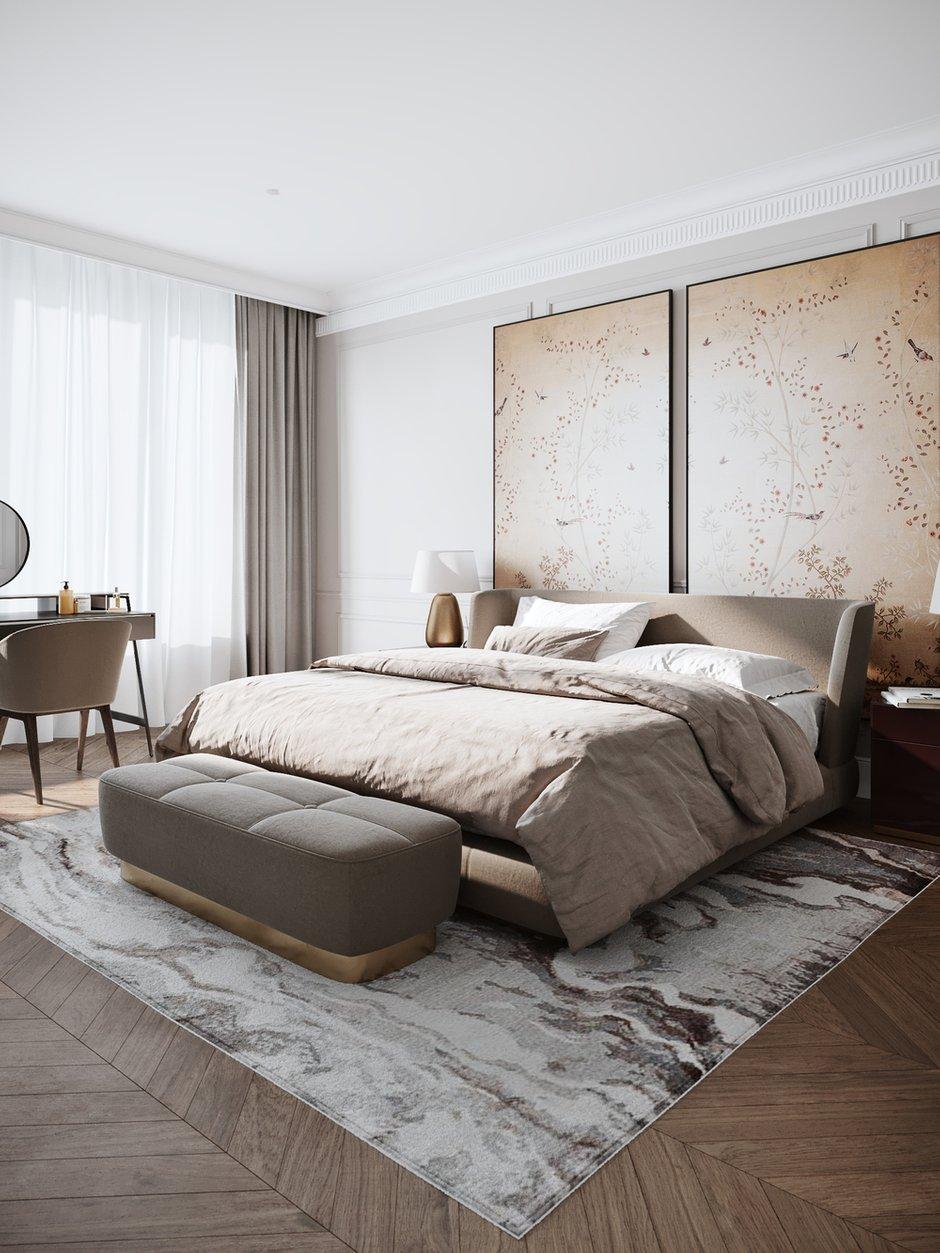 Фотография: Спальня в стиле Современный, Квартира, Проект недели, Москва, Айя Лисова, 4 и больше, Более 90 метров, #эксклюзивныепроекты, Aiya Design – фото на INMYROOM