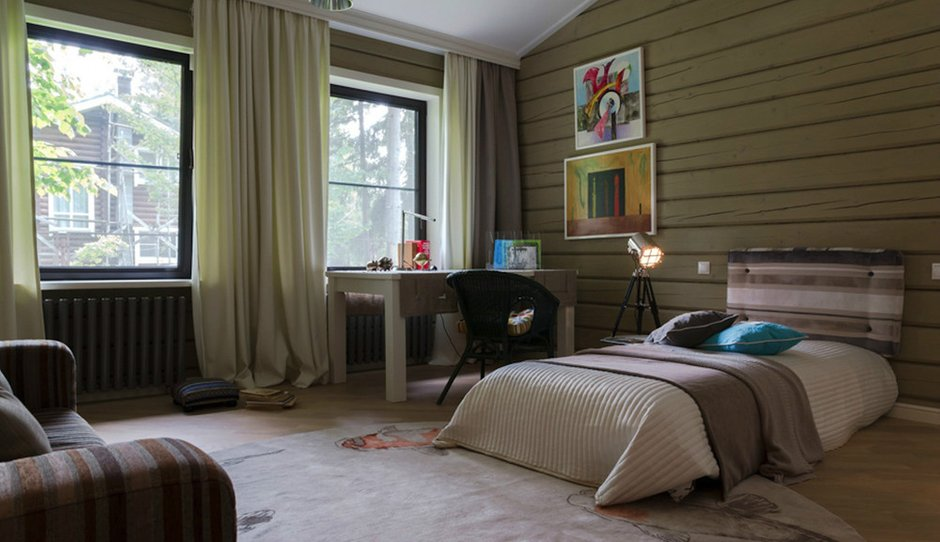 Фотография: Спальня в стиле Прованс и Кантри, Дом, Дома и квартиры, Проект недели, Дача, dom-iz-brusa – фото на INMYROOM