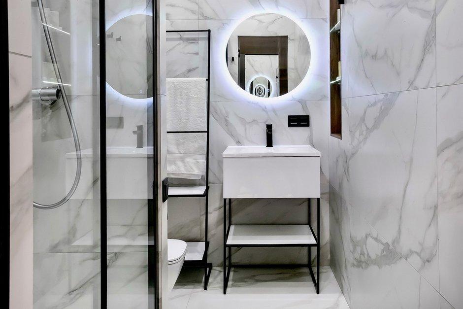 Фотография: Ванная в стиле Минимализм, Малогабаритная квартира, Квартира, Студия, Проект недели, Москва, до 40 метров, Виталий Мясников – фото на INMYROOM