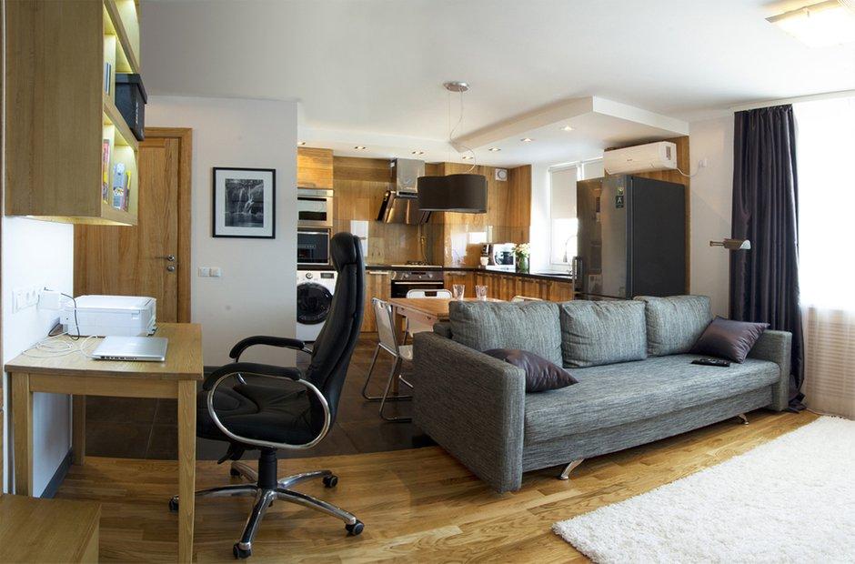Фотография: Гостиная в стиле , Квартира, Дома и квартиры, Проект недели – фото на INMYROOM