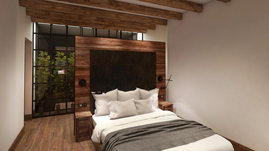 Фотография: Спальня в стиле Современный, Лофт, Квартира, Дома и квартиры, Проект недели, Перепланировка, Переделка, КТ – фото на INMYROOM