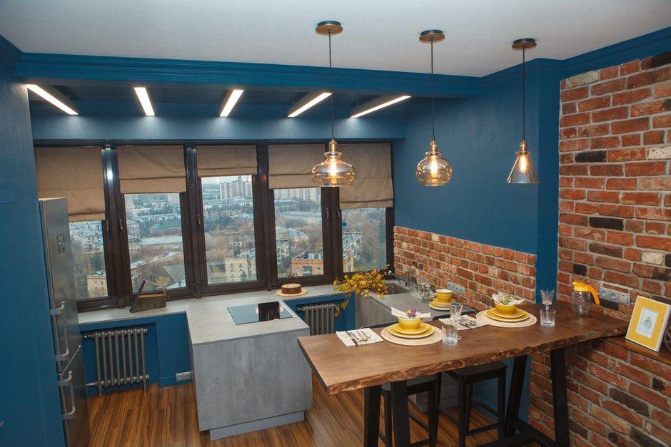 Фотография: Кухня и столовая в стиле Лофт, Квартира, Проект недели, Химки, Ануш Аракелян, Монолитный дом, ЖК «Правый Берег» – фото на INMYROOM