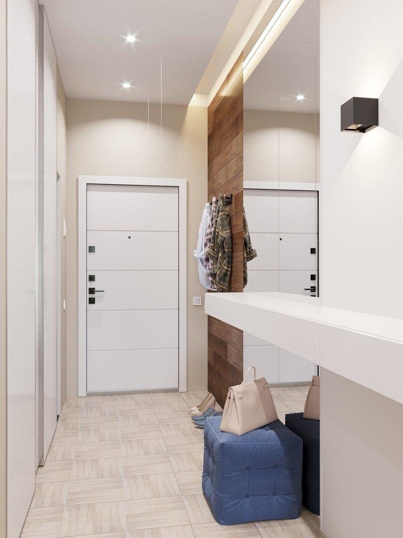 Фотография: Прихожая в стиле Современный, Квартира, Проект недели, Химки, Монолитный дом, 3 комнаты, 60-90 метров, Анна Русскина – фото на INMYROOM