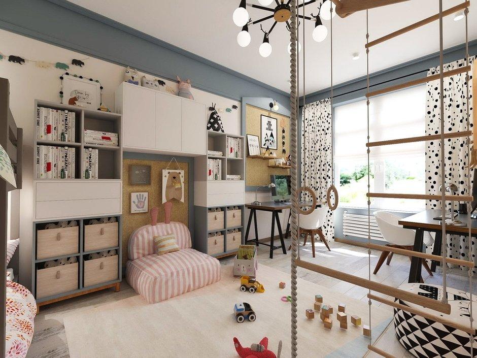 Фотография: Детская в стиле Современный, Квартира, Проект недели, Зеленый, Бежевый, Серый, 60-90 метров, ПРЕМИЯ INMYROOM, Bilbao Design – фото на INMYROOM