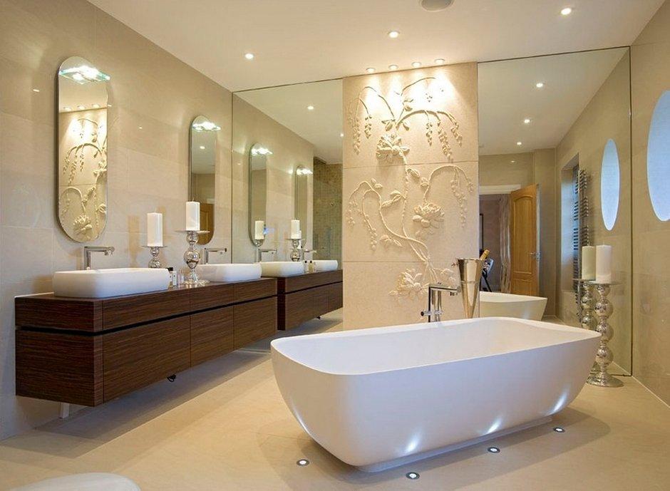 Фотография: Ванная в стиле Эклектика, Декор интерьера, Дом, Мебель и свет, Полки, Лепнина – фото на INMYROOM
