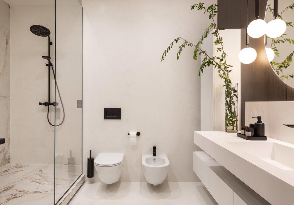 Фотография: Ванная в стиле Современный, Хай-тек, Квартира, Украина, Проект недели, SVOYA STUDIO, 3 комнаты, Более 90 метров, Днепр – фото на INMYROOM