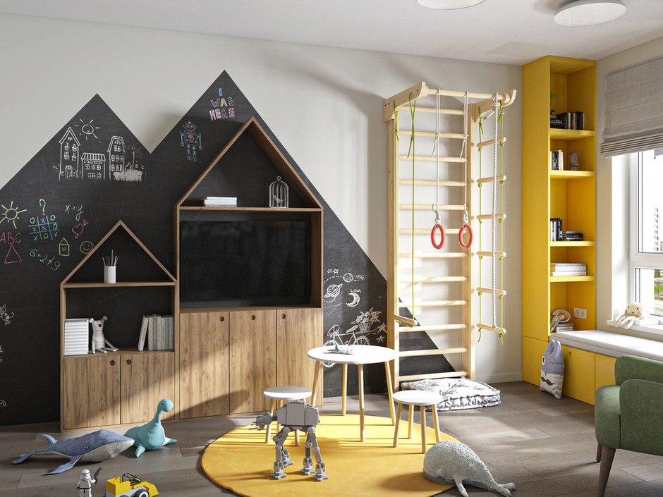 Фотография: Детская в стиле Современный, Квартира, Проект недели, Москва, 3 комнаты, 60-90 метров, Более 90 метров, Бюро «Общая Площадь» – фото на INMYROOM