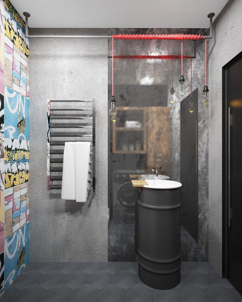 Фотография: Ванная в стиле Лофт, Проект недели, П-3М, GM-Interior – фото на INMYROOM