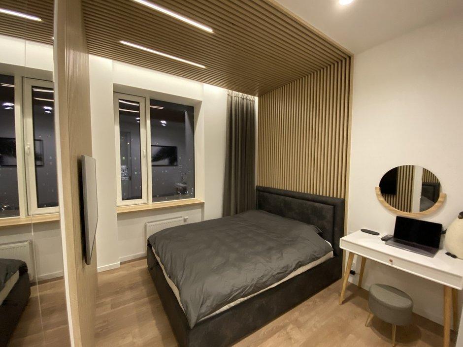 Фотография: Спальня в стиле Современный, Квартира, Проект недели, 2 комнаты, 40-60 метров, домклик, сбербанк страхование, Сбер, СберСтрахование – фото на INMYROOM