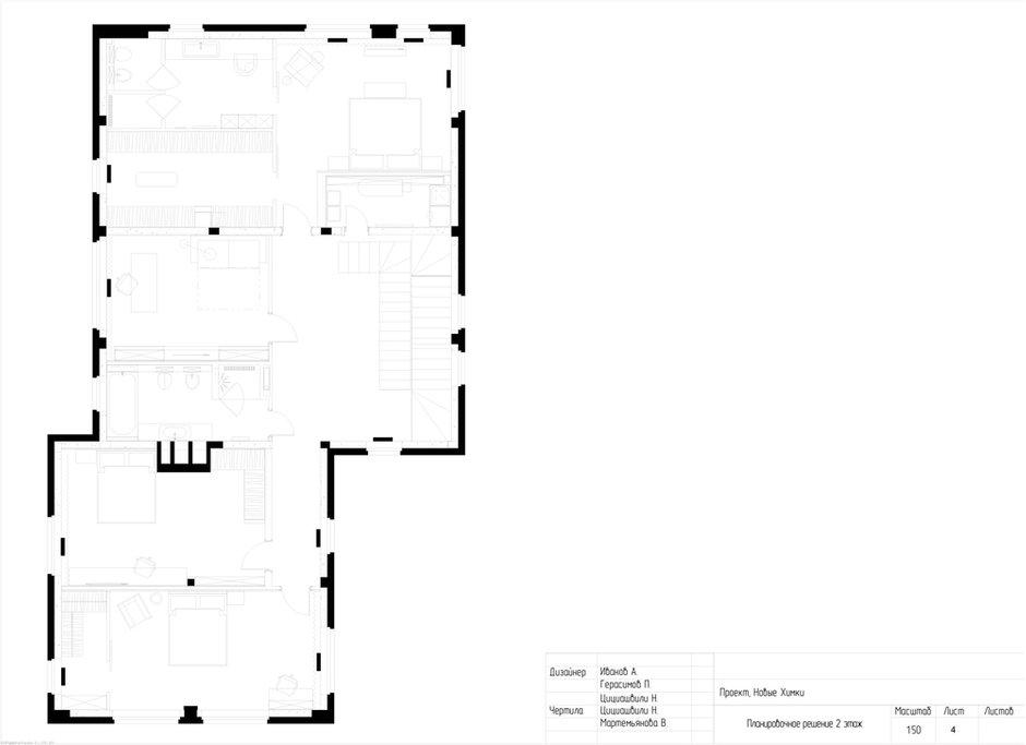 План с расстановкой, 2 этаж