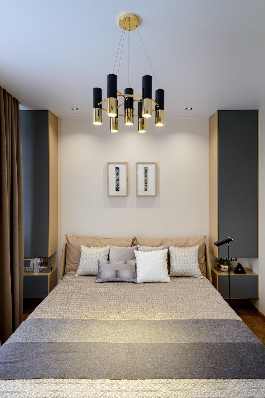 Фотография: Спальня в стиле Современный, Квартира, Проект недели, Монолитный дом, 3 комнаты, Более 90 метров, Полина Степанова, D'POLLY – фото на INMYROOM