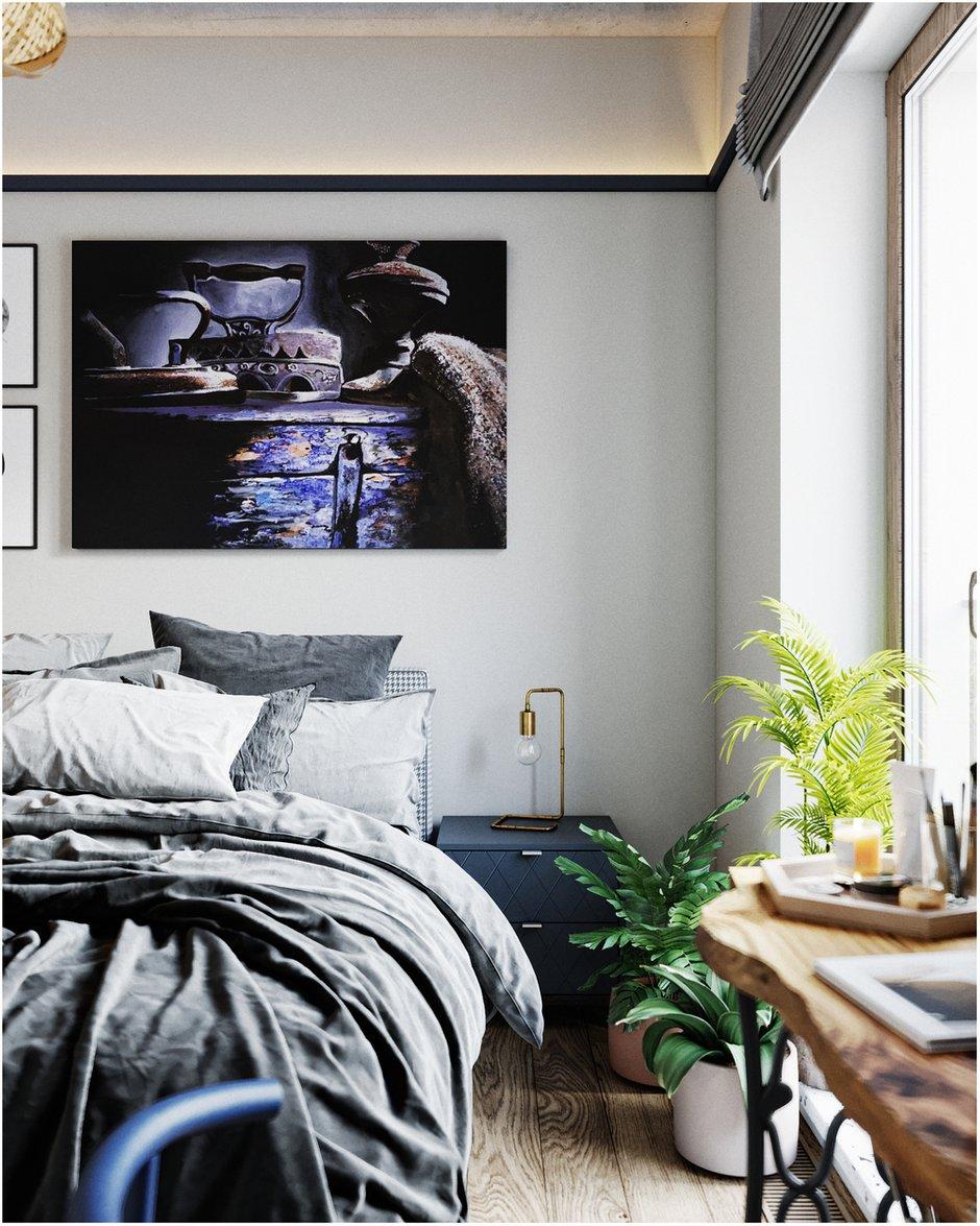 Фотография: Спальня в стиле Скандинавский, Эклектика, Квартира, Проект недели, Санкт-Петербург, Макс Жуков, Виктор Штефан, ToTaste Studio, 3 комнаты, 60-90 метров – фото на INMYROOM
