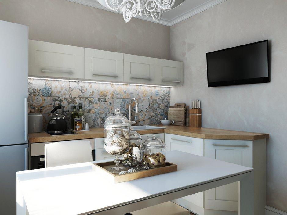 Фотография: Кухня и столовая в стиле Прованс и Кантри, Современный, Эклектика, Квартира, Проект недели – фото на INMYROOM