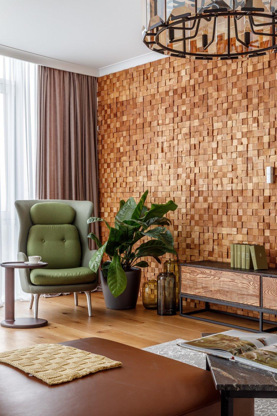 Фотография: Гостиная в стиле Современный, Эко, Квартира, Проект недели, Москва, Архитектурная студия «ЧАДО», 4 и больше, Более 90 метров – фото на INMYROOM