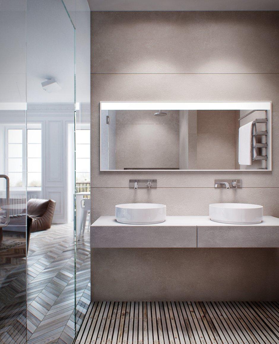 Фотография: Ванная в стиле Лофт, Современный, Скандинавский, Квартира, Минимализм, Проект недели – фото на INMYROOM