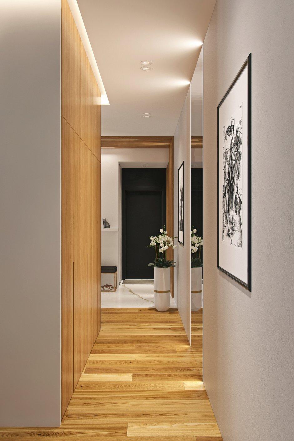Фотография: Прихожая в стиле Современный, Квартира, Проект недели, Москва, Geometrium, 3 комнаты, Более 90 метров, Монолитно-кирпичный, ЖК «Александр» – фото на INMYROOM